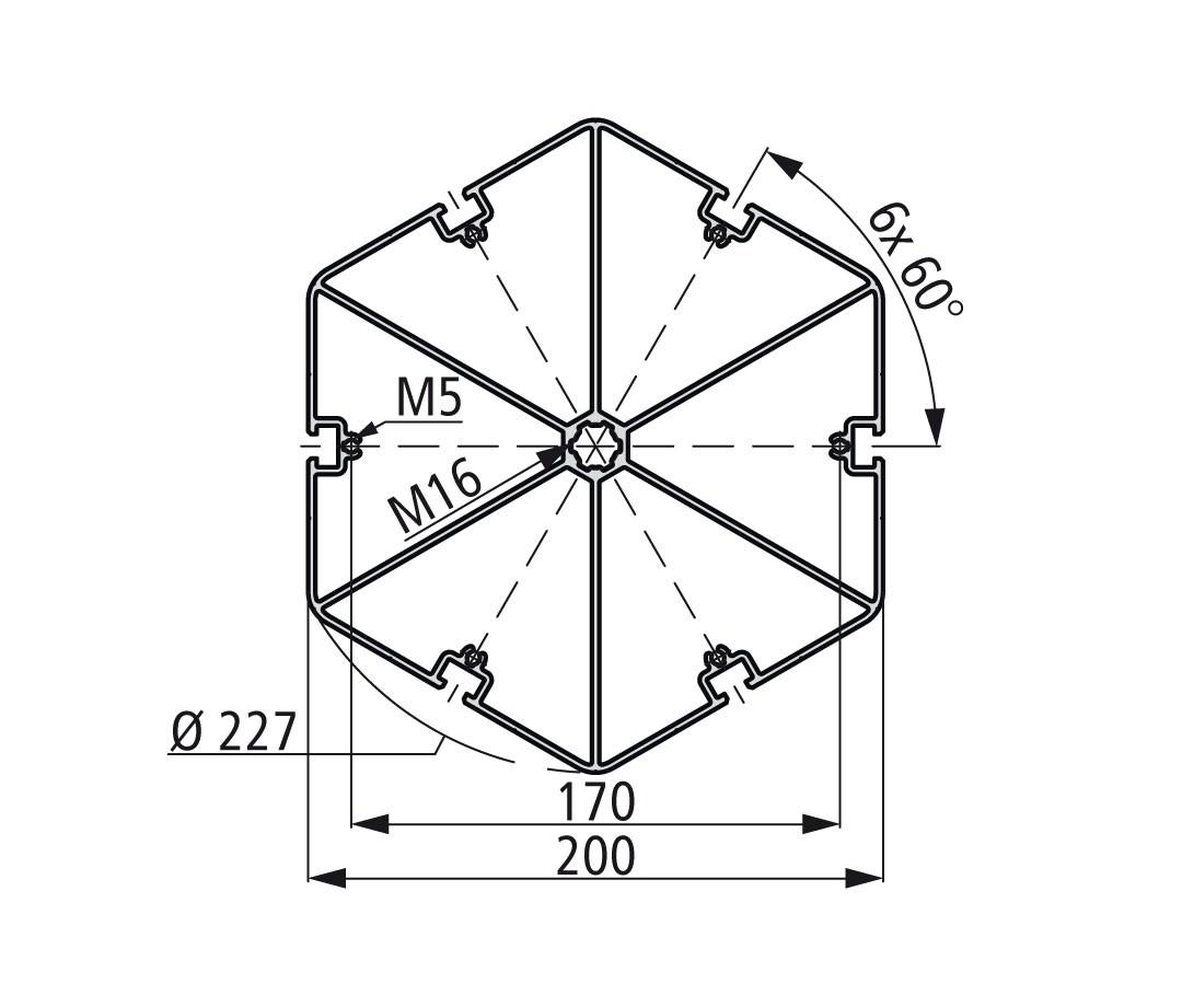 Стенд профиль PS 200-6