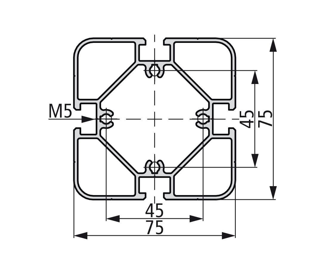 Стенд профиль PS 75