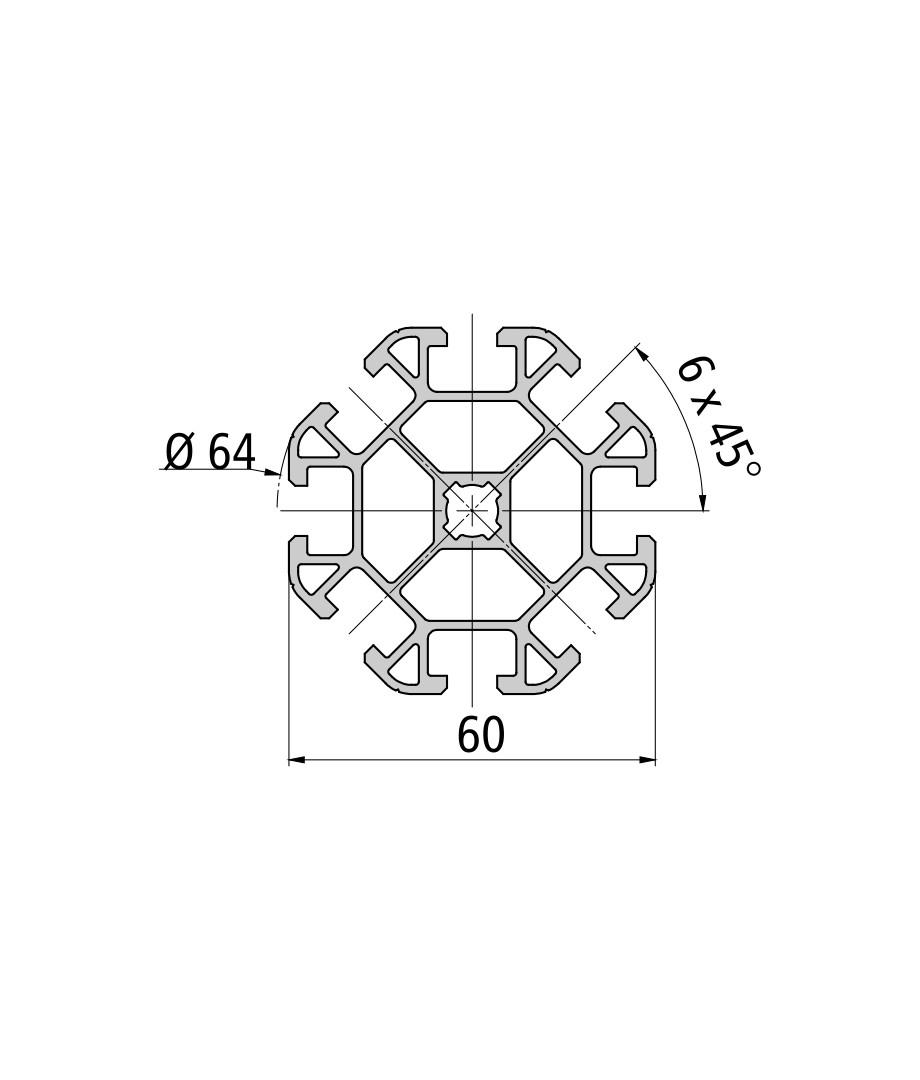 Стенд профиль PS 60-8