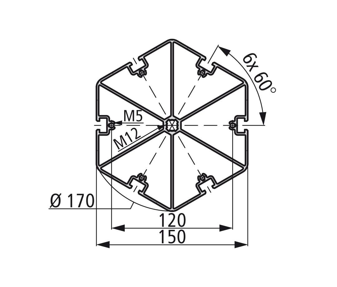 Стенд профиль PS 150-6