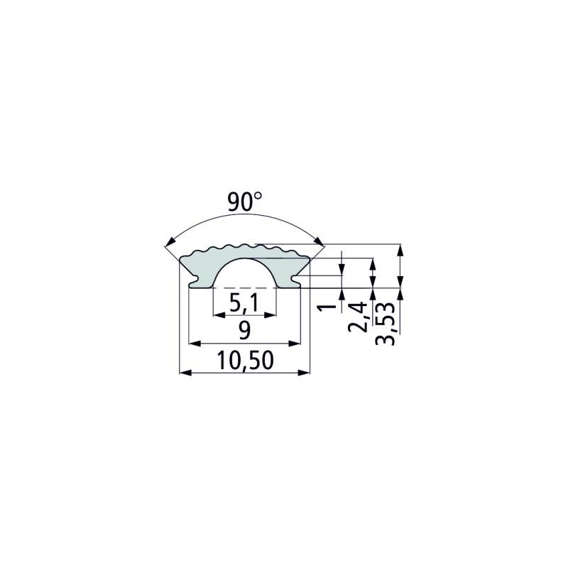 ПВХ-профиль для т-образных пазов (U) PT 1 (прозрачный)