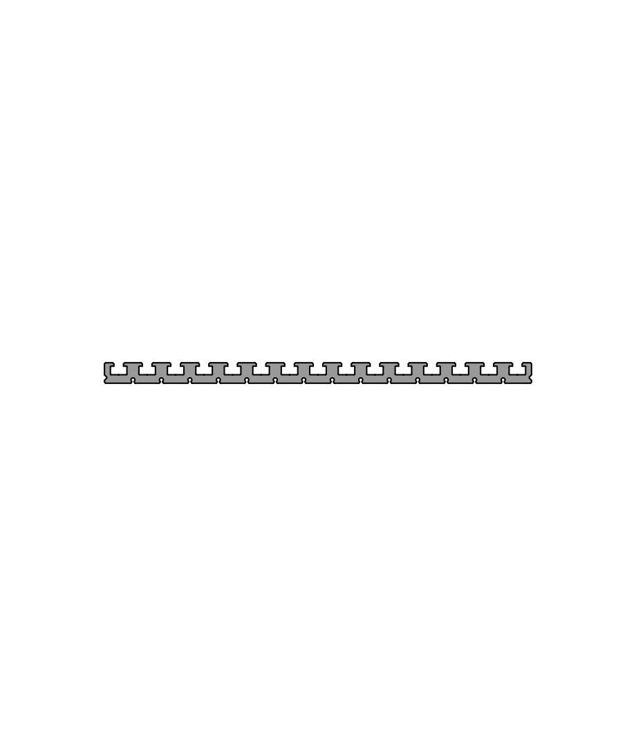 Зажимной и монтажный профиль PR 375-25