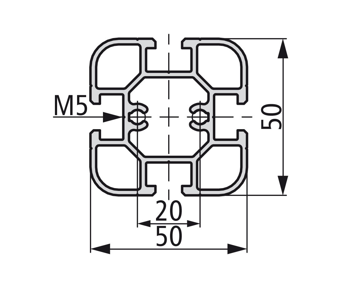 Стенд профиль PS 50