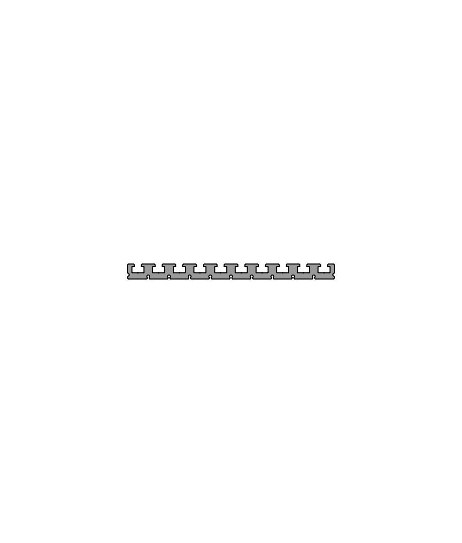 Зажимной и монтажный профиль PR 250-25
