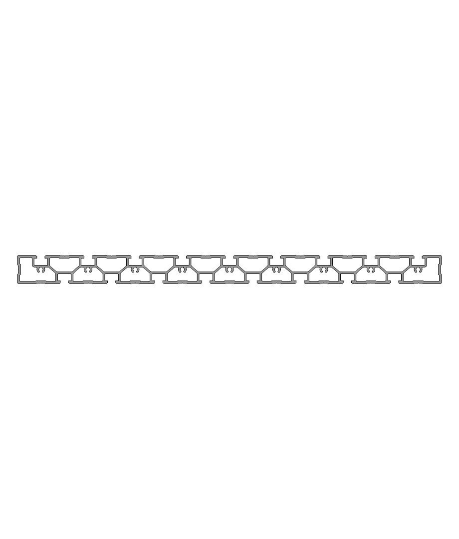 Зажимной и монтажный профиль PR 450-50