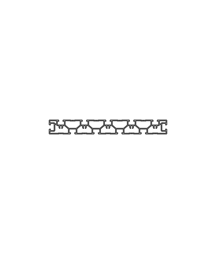 Зажимной и монтажный профиль PR 250-50
