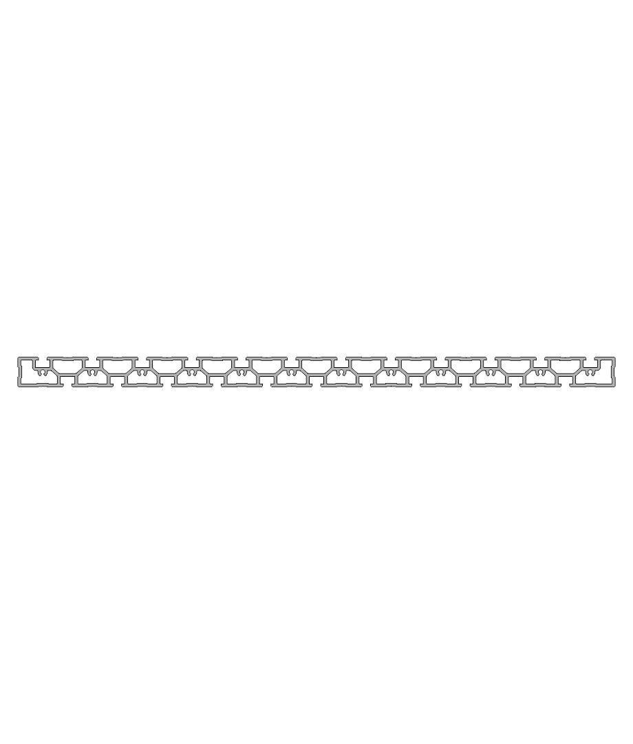 Зажимной и монтажный профиль PR 600-50