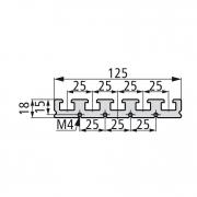 Зажимной и монтажный профиль PR 125-25