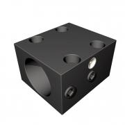 Натяжной блок для  круглой гайки шаровой резьбы шпинделя ø12 мм (на лапах)