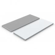 Декоративная панель DP-25 белый алюминий/вулканическо-серый