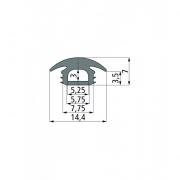 ПВХ-профиль для т-образных пазов PG 2