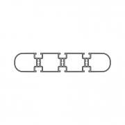 Рамочный и прямоугольный профиль PV 200-3