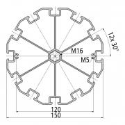 Стенд профиль PS 150-12